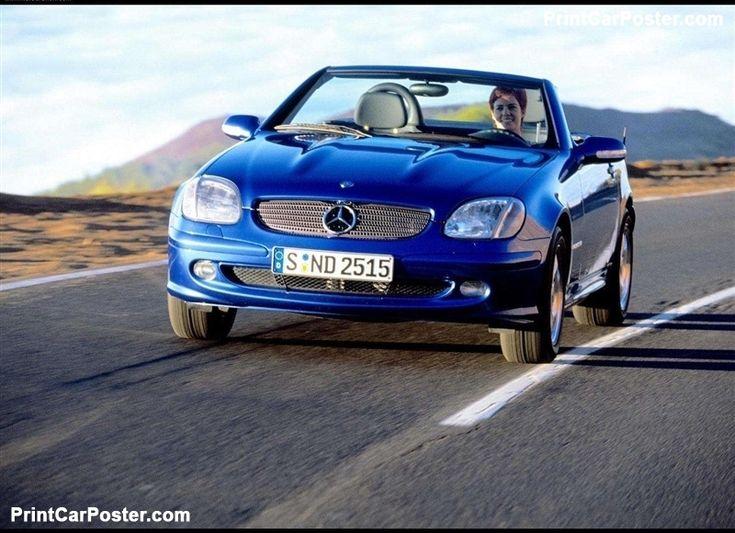 Mercedes-Benz SLK200 Kompressor 2000 poster, #poster, #mousepad, #tshirt, #printcarposter