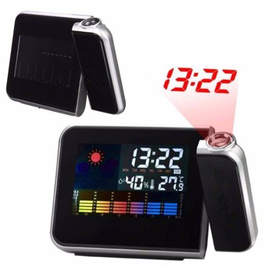 Drillpro Projection multi-fonction réveil-horloge LED-alarme de statut-180…