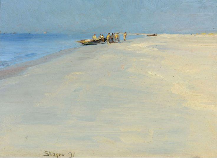 The Athenaeum - Fishermen on the Beach at Skagen (Peder Severin Kroyer - )