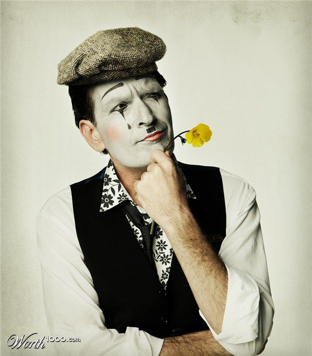 charlie sheen mime makeuphalloween - Mime For Halloween