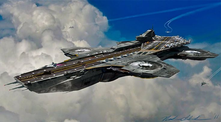 shield helicarrier sci fi aircraft pinterest phil
