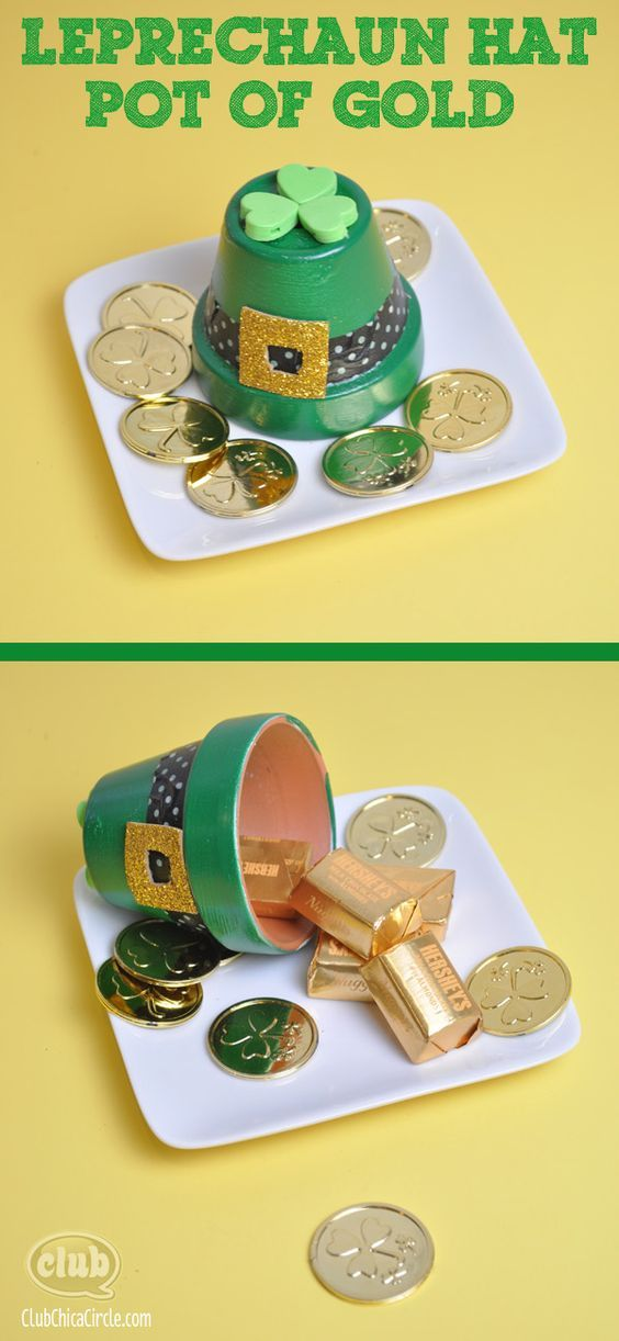 Leprechaun and Pot of Gold Easy St. Patricks Day Craft Ideas | Tween Craft Ideas for Mom and Daughter: