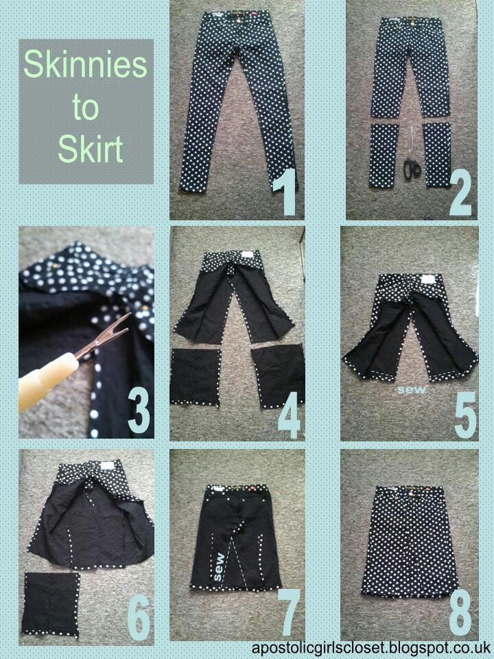 How to make a skirt out of pants!