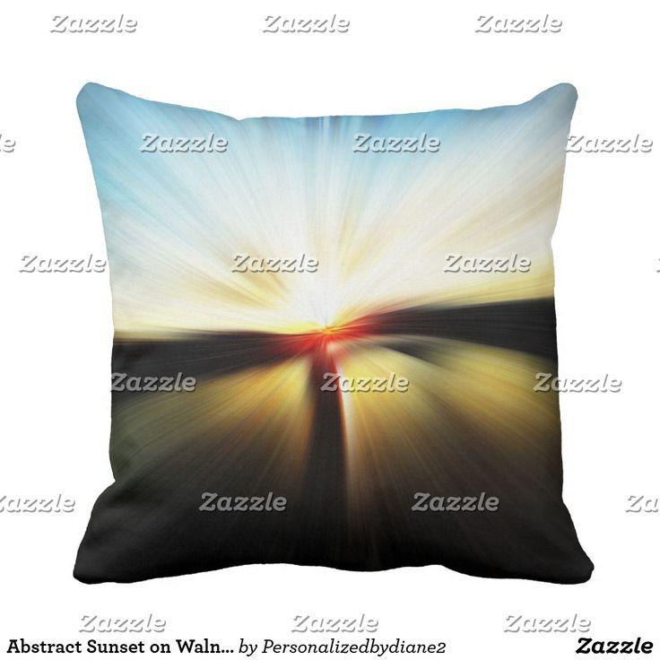 zazzle wedding invitations promo code%0A Abstract Sunset on Walnut Street Bridge TN Throw Pillow