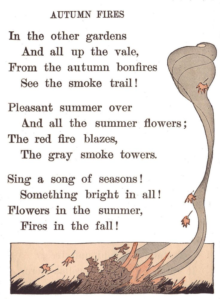 Autumn Fires by Robert Louis Stevenson - The Young and Field Literary Readers, Book Two, Ginn and Co., 1916.  -  Illustrations by Maginel Wright Enright.