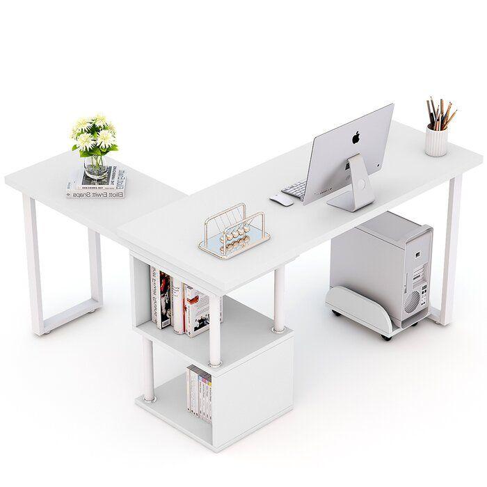 Lambdin 360 176 Free Rotating L Shape Credenza Desk In 2020