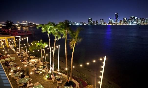 The Rusty Pelican restaurant features a seafood-continental menu in a unique waterfront setting with a spectacular view of the Miami skyline. It is moderately priced with an emphasis on local specialties. #MiamiCruise