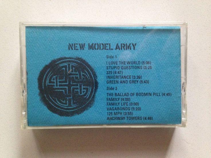 NEW MODEL ARMY Thunder & Consolation cassette tape 1989 ORIG US ADVANCE PROMO #AlternativeIndieFolkCountryRockPunkNewWave