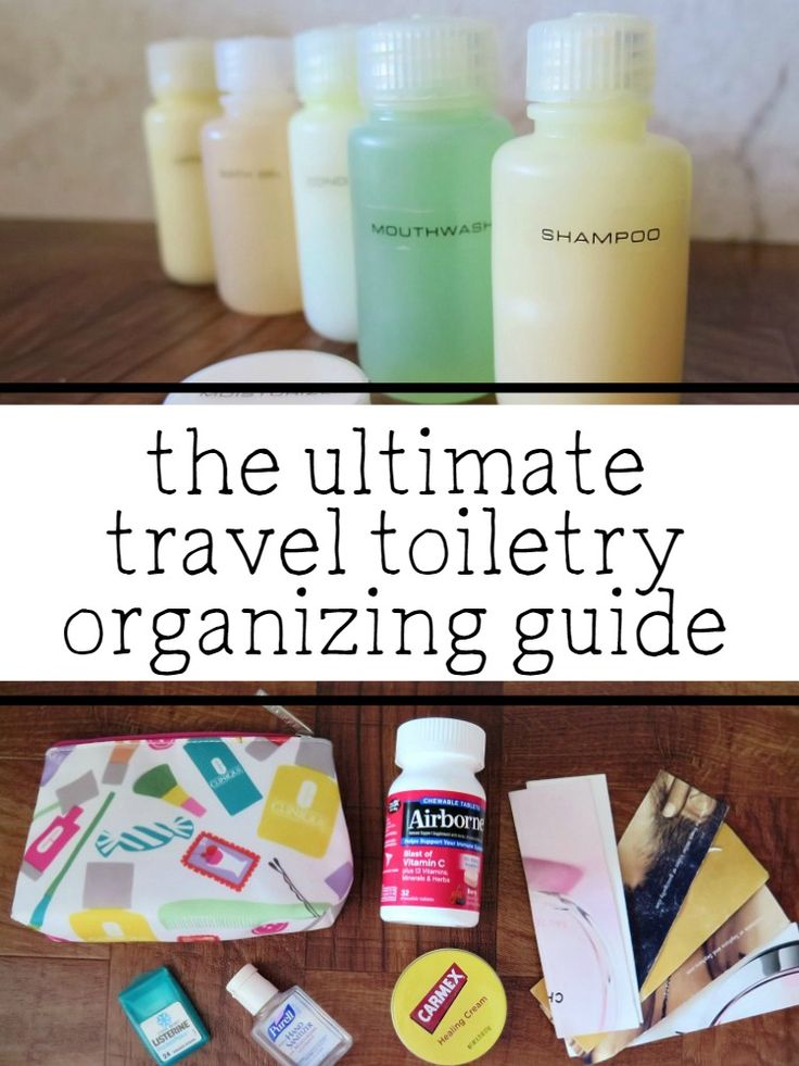 the ultimate travel toiletry organizing guide! No more forgetting toiletries or having to check your luggage because you brought to much!     packing your toiletries, organizing toiletries, packing toiletries for your vacation, how to organize your toiletries for your trip, packing toiletries, TSA size approved, etc!