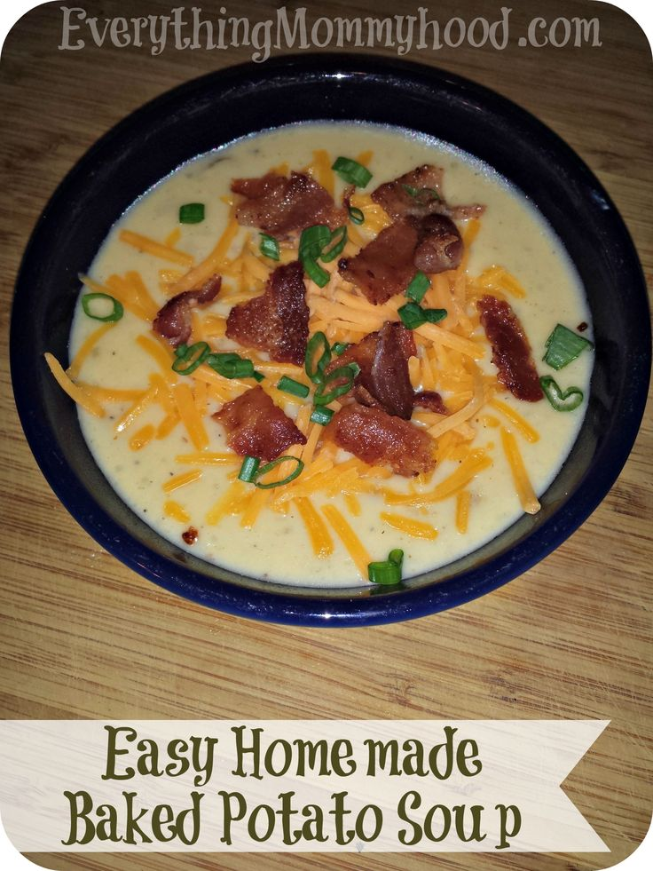 Recipe: Easy Homemade Baked Potato Soup. Brothers birthday dinner since he got his wisdom teeth out