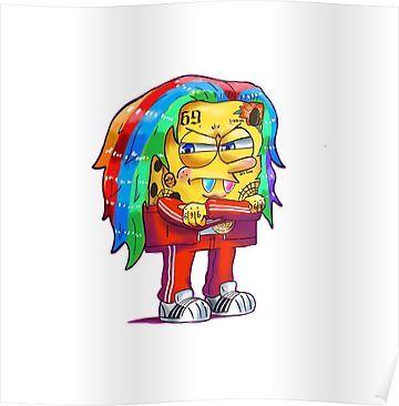 6ix9ine SpongeBob Poster Products in 2019 Spongebob