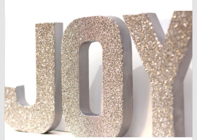 Can be so easily made with gold spray paint cardboard for Glitter cardboard letters