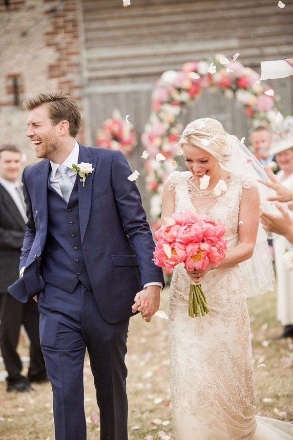 maries mariage navy pink