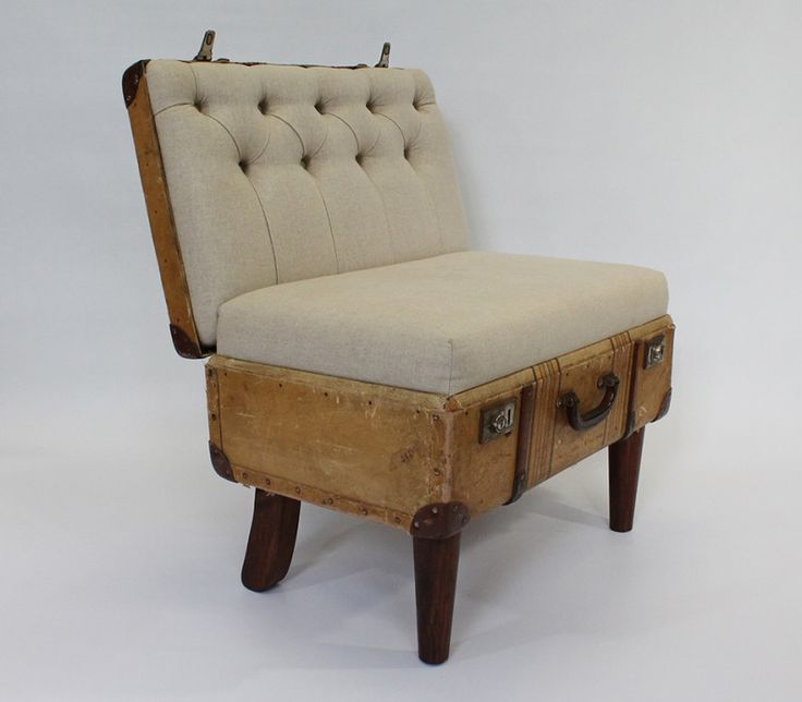 recreate furniture. suitcase chair linen u2013 recreate furniture