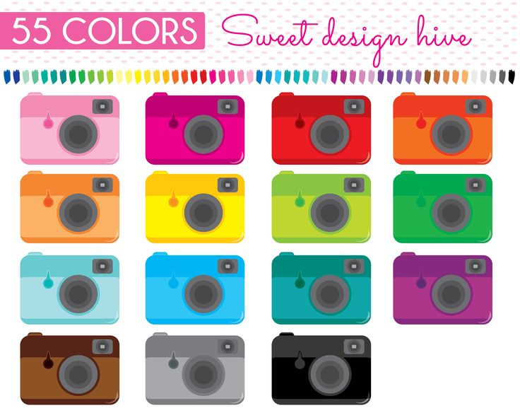 Camera clipart, Photography Clip Art, Digital Photography Camera, Compact Cameras Clipart, Planner Stickers, Commercial Use, PL0121 by Sweetdesignhive on Etsy