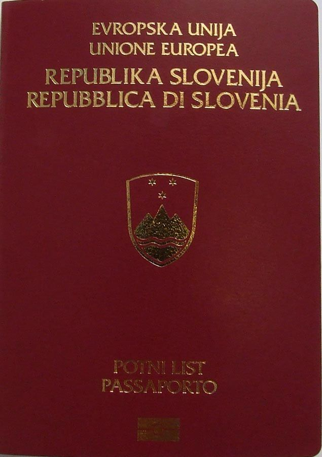Bilingual Slovene-Italian edition of the Slovenian passport ◆Slovenia…