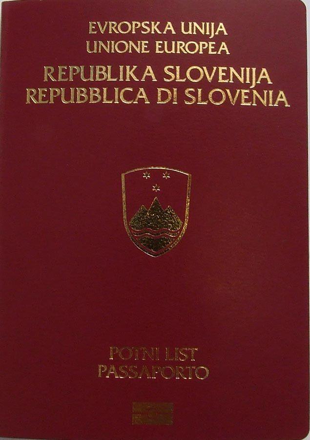 Bilingual Slovene-Italian edition of the Slovenian passport ◆Slovenia - Wikipedia https://en.wikipedia.org/wiki/Slovenia #Slovenia