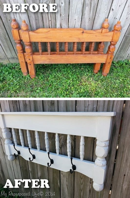 20 Creative Furniture Hacks // Bed post to coat rack!