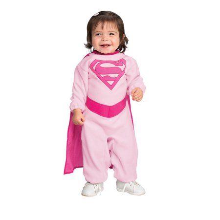 Pink Supergirl Infant Halloween Costume, Infant Girl's, Size: 0 - 3 Months, Multicolor