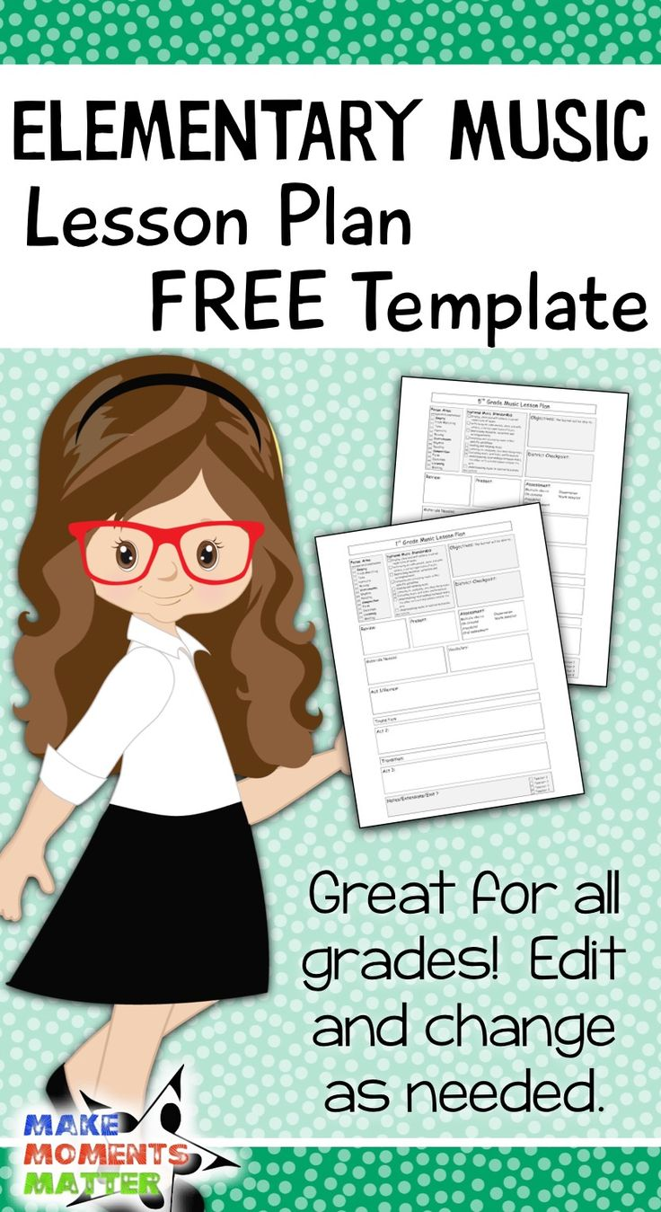 Elementary Music Lesson Plan Template Elementary Music Lessons Music Lesson Plans Elementary Music Lesson Plan Elementary music lesson plan template