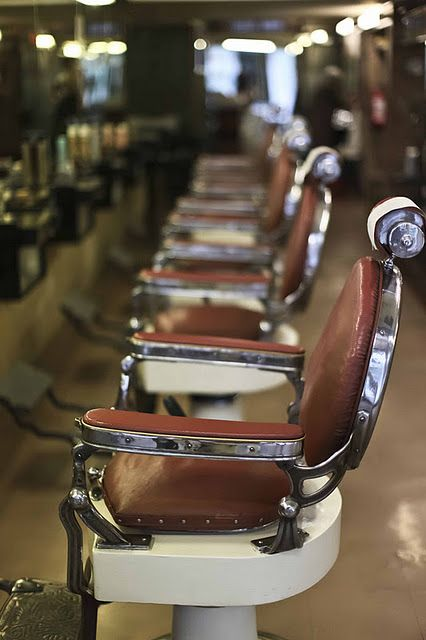 Old Barber Shop. Love these seats.