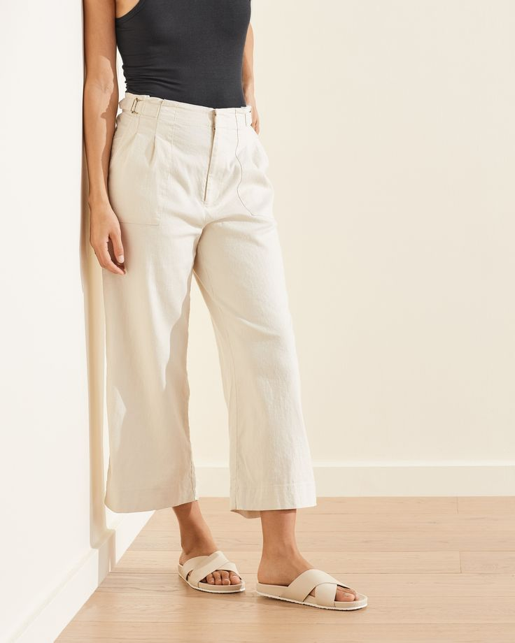 Why walk when you can float? Our light and breathable, Hemp Tencel High Waisted Wide Leg Pant is made with Tencel™ Lyocell, a wood pulp fiber derived from a sustainably managed forest. Designed to be a comfy fit. Wide Leg Palazzo Pants, Wide Leg Pants, Casual Outfits, Fashion Outfits, Pants For Women, Clothes For Women, New People, Hemp, Spring Outfits
