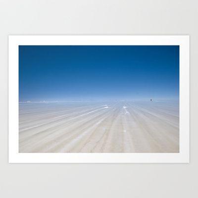Bolivia 1 Art Print by jacthegirl - $24.00 Uyuni Salt Flats during the wet season