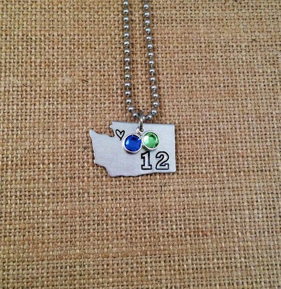 Washington+State+Necklace++HandStamped+by+KennabelleDesigns,+$28.00