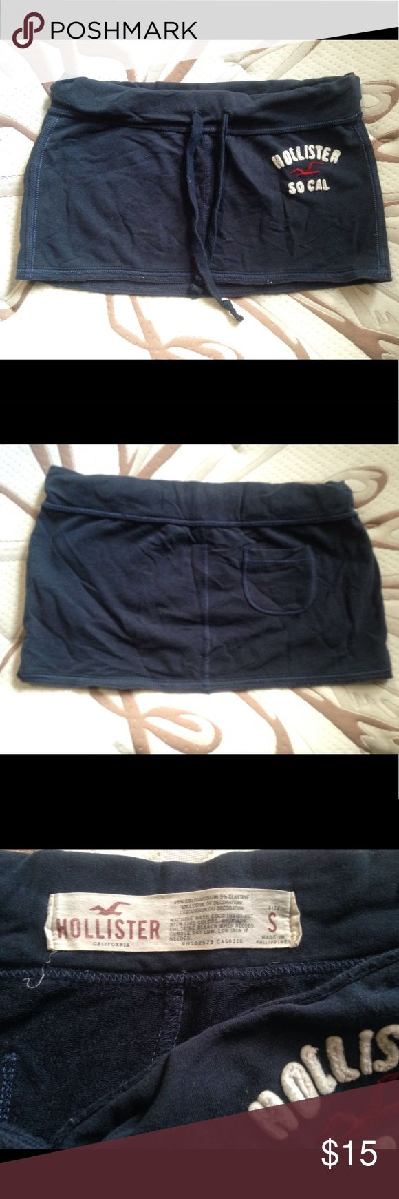 Hollister skirt Incredibly soft drawstring skirt. Great condition. Small pocket on the back. This can easily become you most favorite shirt ever ! Hollister Skirts Mini