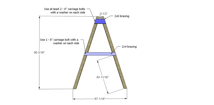 How to build a swing frame woodworking projects plans for Building plans for a frame swing set