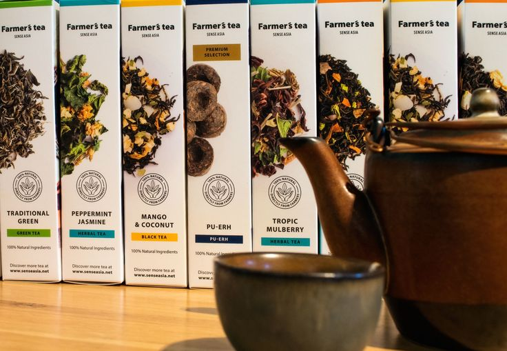 Sense Asia. Gifts for Gourmets. Directly from Local Farmers. 10 authentic tastes from Farmer's Tea Collection. #teagift #healthbenefits #vietnamesetea