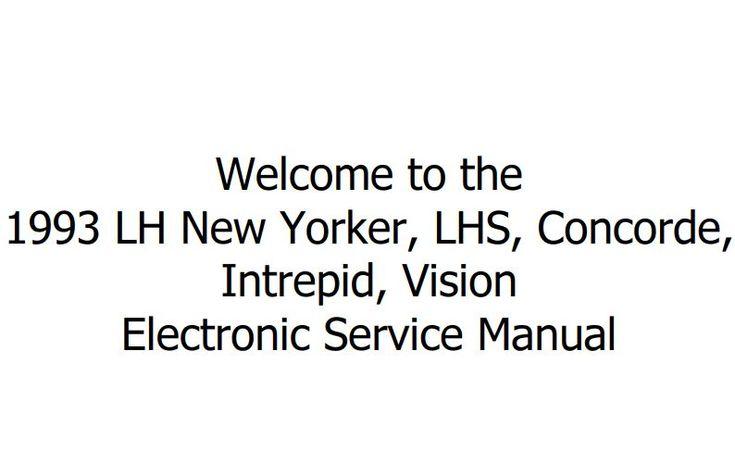 New post (Chrysler LH New Yorker Concorde Intrepid Vision