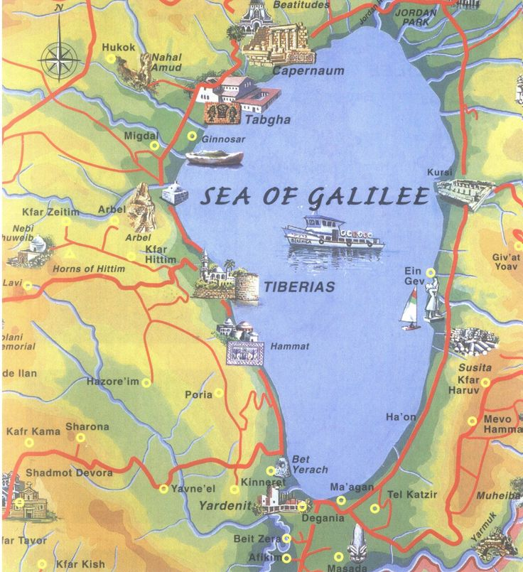 Mt. Beatitudes map | Sea of Galilee | CCF in Israel
