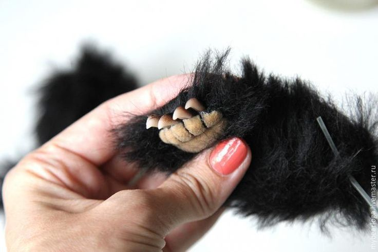 Лепим для мишки коготки из полимерной глины - Ярмарка Мастеров - ручная работа, handmade