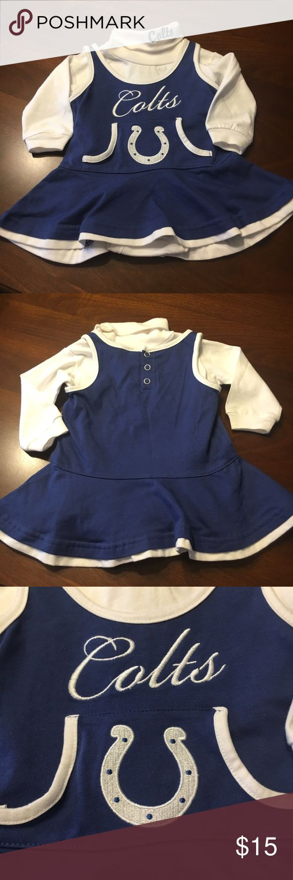 NWT Indianapolis Colts 2 Piece Baby Cheer Outfit NWT Indianapolis Colts 2 Piece Baby Cheerleading Outfit 3-6 Months NFL Matching Sets