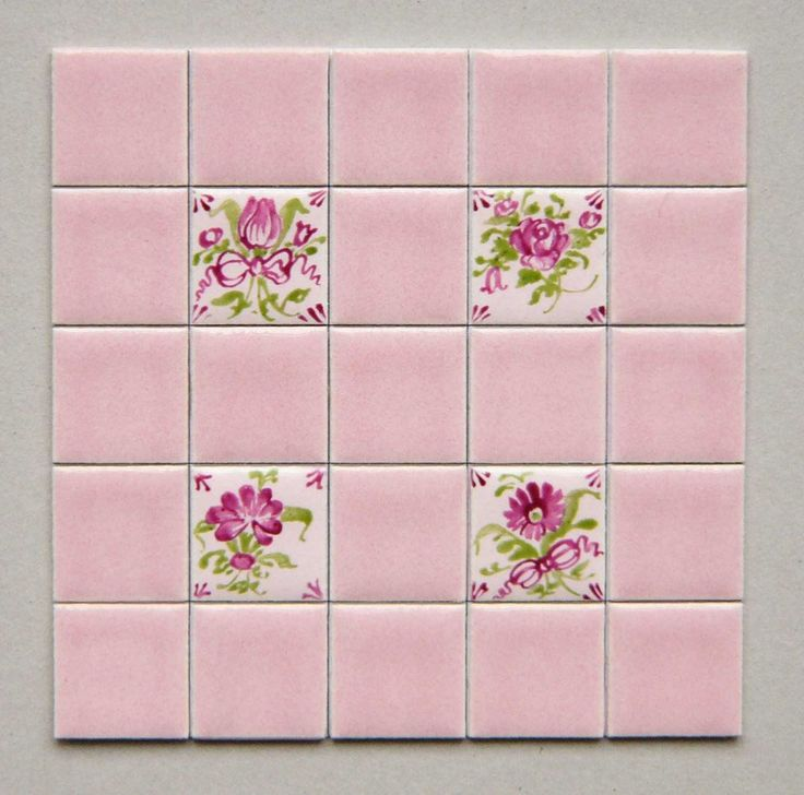 Ceramiche Musa Hand Painted Floor And Tiles Made In Italy: Hand Painted Rose And Green Flowers