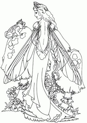 intricate fairy coloring pages this fairy is lovely and quite complex and intricate to colour. Black Bedroom Furniture Sets. Home Design Ideas