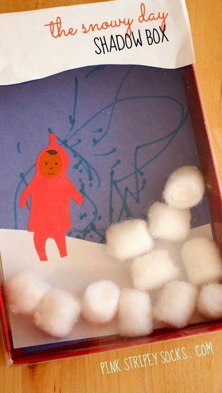 The Snowy Day Shadow Box- fun kid's winter's craft