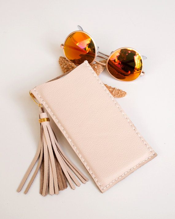 iPhone 6 Plus Sleeve Hand Stitched Nude Blush