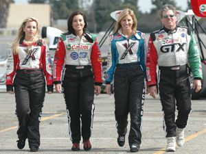 John Force's Daughters - Brittany, Ashley, Courtney, and dad John