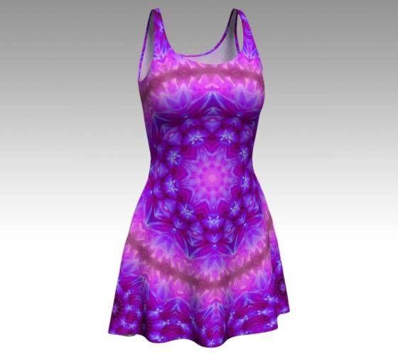 Purple Dress Flower Dress Festival Dress Flower Fairy