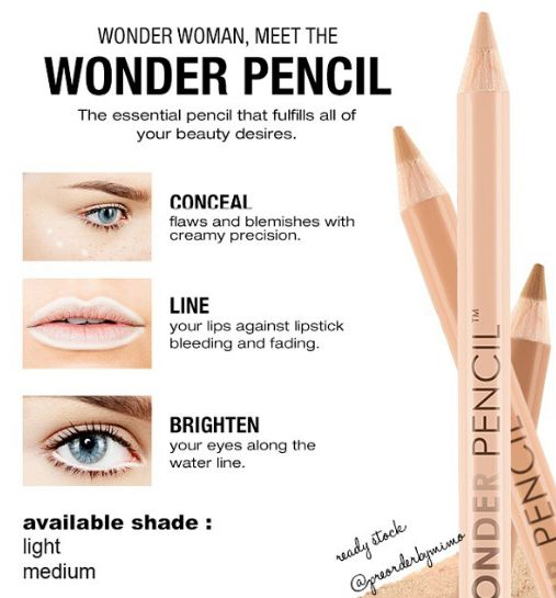 Nyx Wonder Pencil- $5, nyxcosmetics.com - the tip is super-precise for blemishes and the texture is blendable but on the drier side si it really lasts
