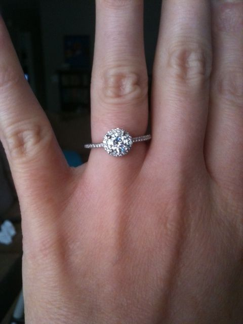I usually would not post an engagement ring picture, but this... I instantly fell in love. Perfection is my future husband and some version of this ring on my left ring finger.