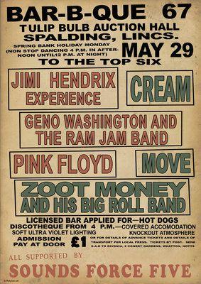 Hendrix BBQ Affiche par Rokpool - print