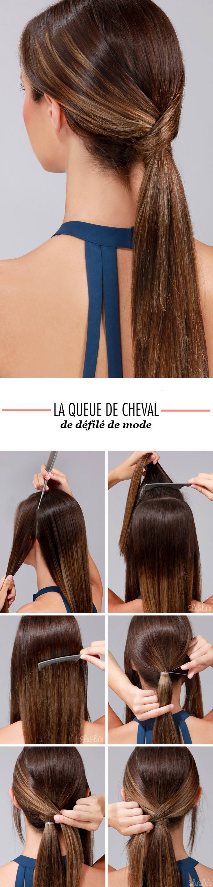 tuto queue de cheval défilé