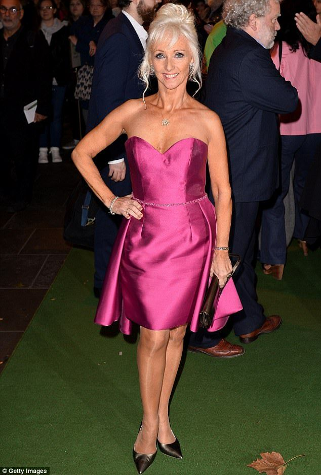 Ay ca-Rumba! Debbie McGee also dazzled at the grand opening - enjoying a night off from he...