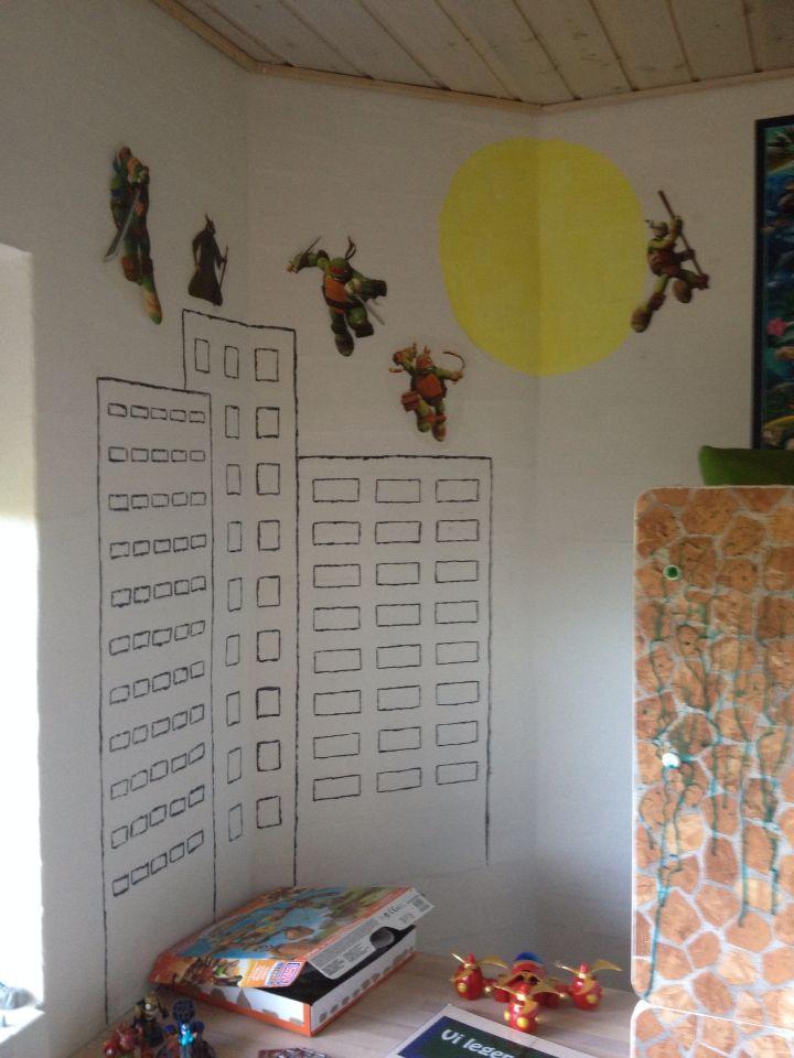Antons værelse, ninja turtle bunk
