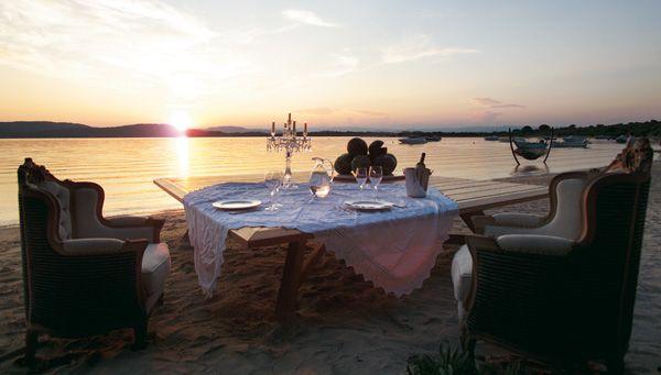 Ekies All Senses Resort - Halkidiki. What a spot for dinner for two...