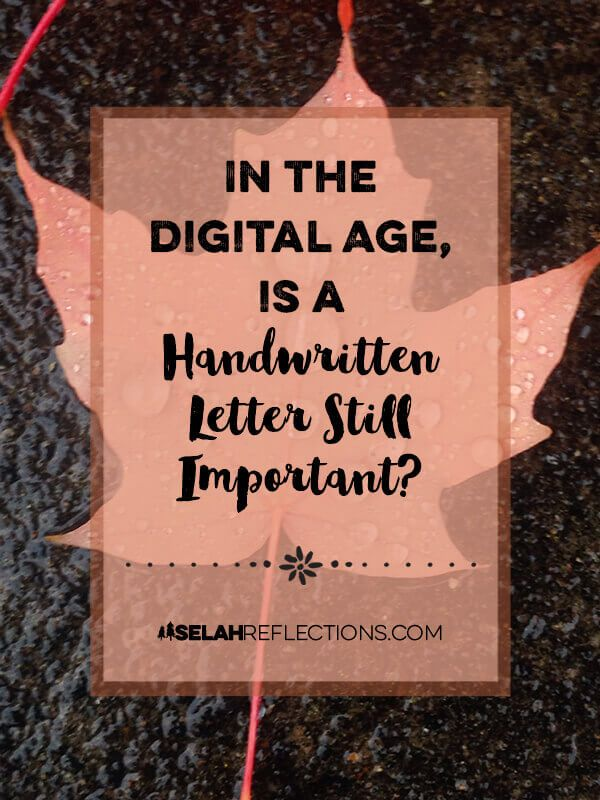 business letter format with enclosure%0A In the Digital Age  is a Handwritten Letter Still Important
