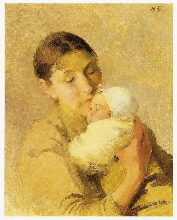 Helene Schjerfbeck (Finnish, 1862-1946) ~ Mother and child
